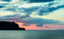 Sunset over Andaman Sea Stock Photography
