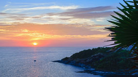 Sunset over the Andaman Sea Royalty Free Stock Image