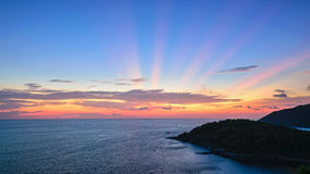Sunset over the Andaman Sea Royalty Free Stock Photos
