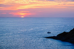 Sunset over the Andaman Sea Stock Photo