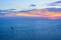 Sunset over the Andaman Sea Stock Image