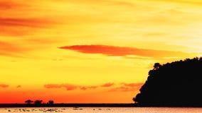 Sunset Over Andaman Sea Stock Photos