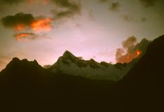Sunset over the Andes Royalty Free Stock Images
