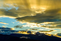 Sunset Over Andes Stock Photography