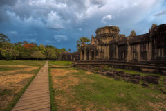 Sunset over Angkor Wat Royalty Free Stock Photography