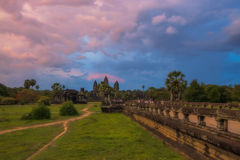 Sunset over Angkor Wat Stock Photo