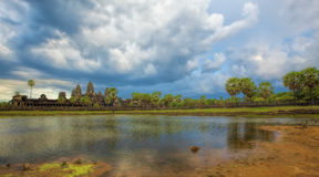 Sunset over Angkor Wat Royalty Free Stock Photos