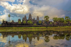 Sunset over Angkor Wat Stock Image