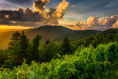 Sunset over the Appalachian Mountains from Caney Fork Overlook o Stock Photos