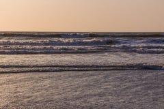 Sunset over Arabian sea, Indian ocean, on Arambol beach, Goa, In Stock Images