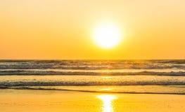 Sunset over Arabian sea, Indian ocean, on Arambol beach, Goa, In Royalty Free Stock Image