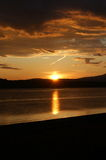 Sunset over Ardmucknish Bay. Sunset over the calm waters of Ardmucknish Bay, which is situated just north of Oban, Scotland Royalty Free Stock Photo