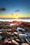Sunset over Atlantic Ocean Stock Photo
