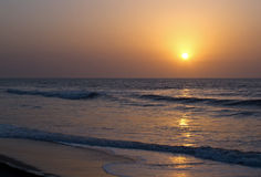 Sunset over Atlantic Ocean Royalty Free Stock Images