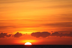 Sunset over the Atlantic ocean Royalty Free Stock Photography