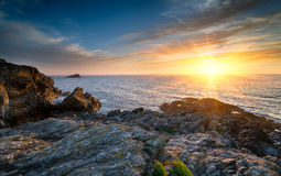 Sunset Over the Atlantic Ocean Stock Image