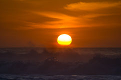 Sunset over Atlantic ocean Stock Photos