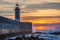 Sunset over Atlantic Ocean Royalty Free Stock Photography