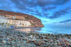 Sunset over atlantic ocean at Gran Canaria Stock Photography