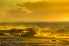 Sunset over the Atlantic Ocean in Morocco Royalty Free Stock Photo