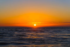 Sunset over the Atlantic ocean in Porto, Portugal Stock Photography