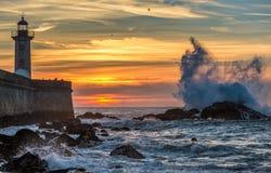 Sunset over Atlantic Ocean Stock Photos