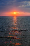 Sunset over Atlantic ocean Royalty Free Stock Image