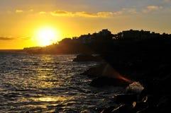 Sunset over the Atlantic Ocean Stock Photo