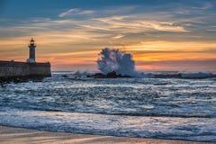 Sunset over Atlantic Ocean Stock Photography
