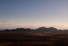 Sunset over Ayers Rock Stock Image