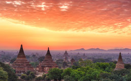 Sunset over Bagan royalty free stock photography