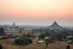Sunset over  Bagan, Myanmar Royalty Free Stock Photography