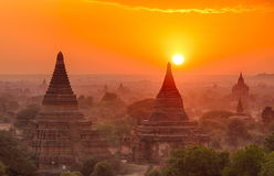 Sunset over Bagan royalty free stock images
