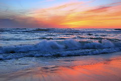 Sunset over Baltic Sea. Stock Photography