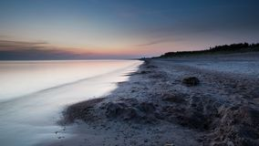 Sunset over the baltic sea. royalty free stock image