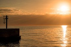 Sunset over the Baltic Sea Stock Images