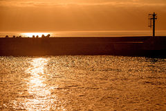 Sunset over the Baltic Sea Stock Photography