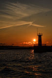 Sunset over Baltic Sea Royalty Free Stock Photography