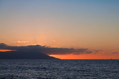 Sunset over Banderas Bay Stock Images