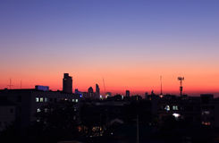 Sunset over Bangkok city Stock Image