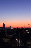 Sunset over Bangkok city Stock Photography