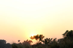 Sunset. Over the Bangladeshi village in the town of Savar Stock Photos