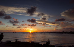 Sunset over Barbados West Coast Stock Photo