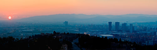 Sunset over Barcelona Royalty Free Stock Images