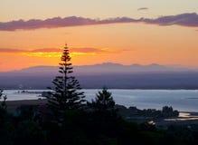 Sunset over bay Stock Photos