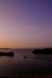 Sunset over bay on Menorca island Stock Photography