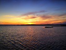 Sunset over bay Royalty Free Stock Image