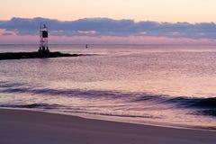 Sunset over beach Stock Image