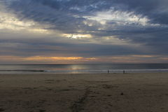 Sunset over Beach Stock Photos