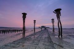 Sunset over the beach in Kinmen, Taiwan Stock Photos